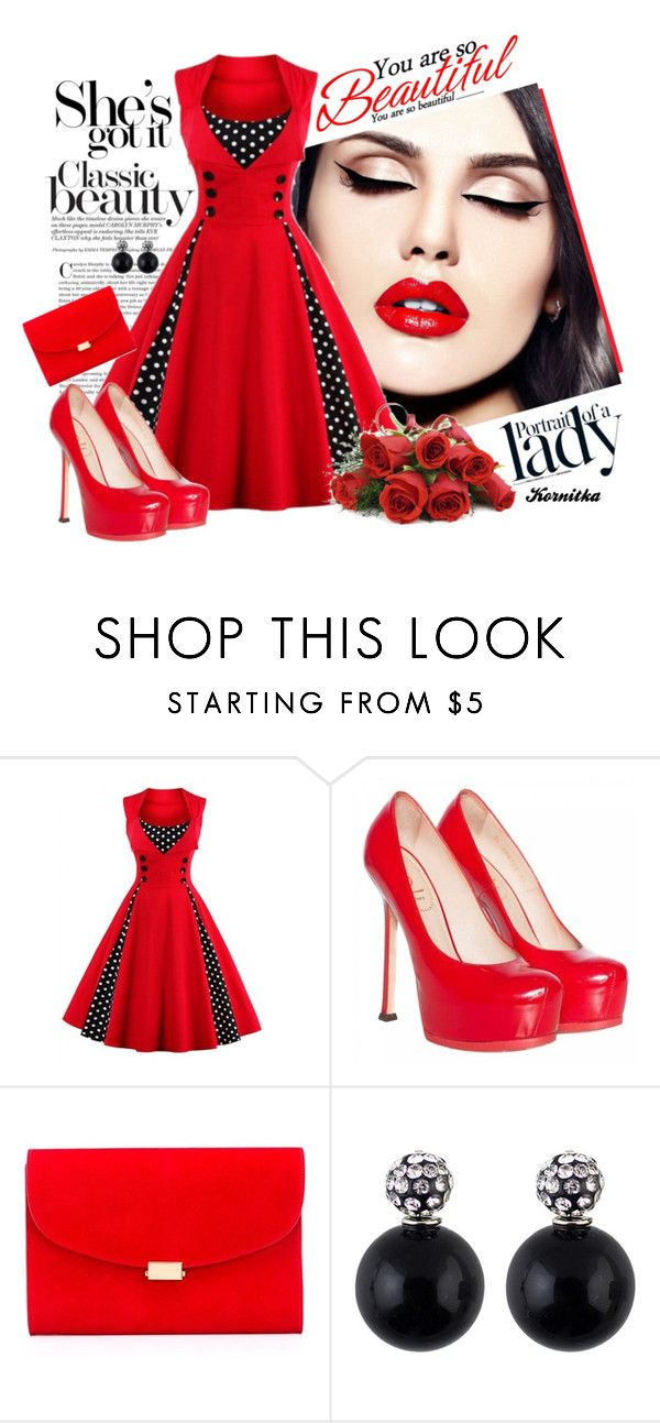 """""""nr 463 / Red Passion"""" by kornitka ❤ liked on Polyvore featuring Inez & Vinoodh, Yves Saint Laurent and Mansur Gavriel"""