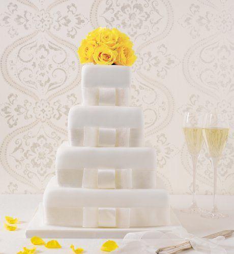 Marks And Spencer Wedding Flowers: 4 Tier Elegant Assorted Wedding Cake