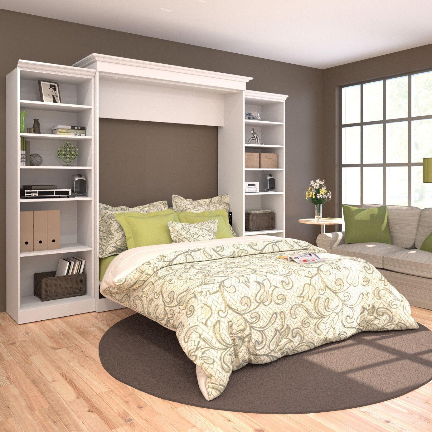 Best Bestar Versatile Queen Storage Murphy Bed Wayfair Home 400 x 300