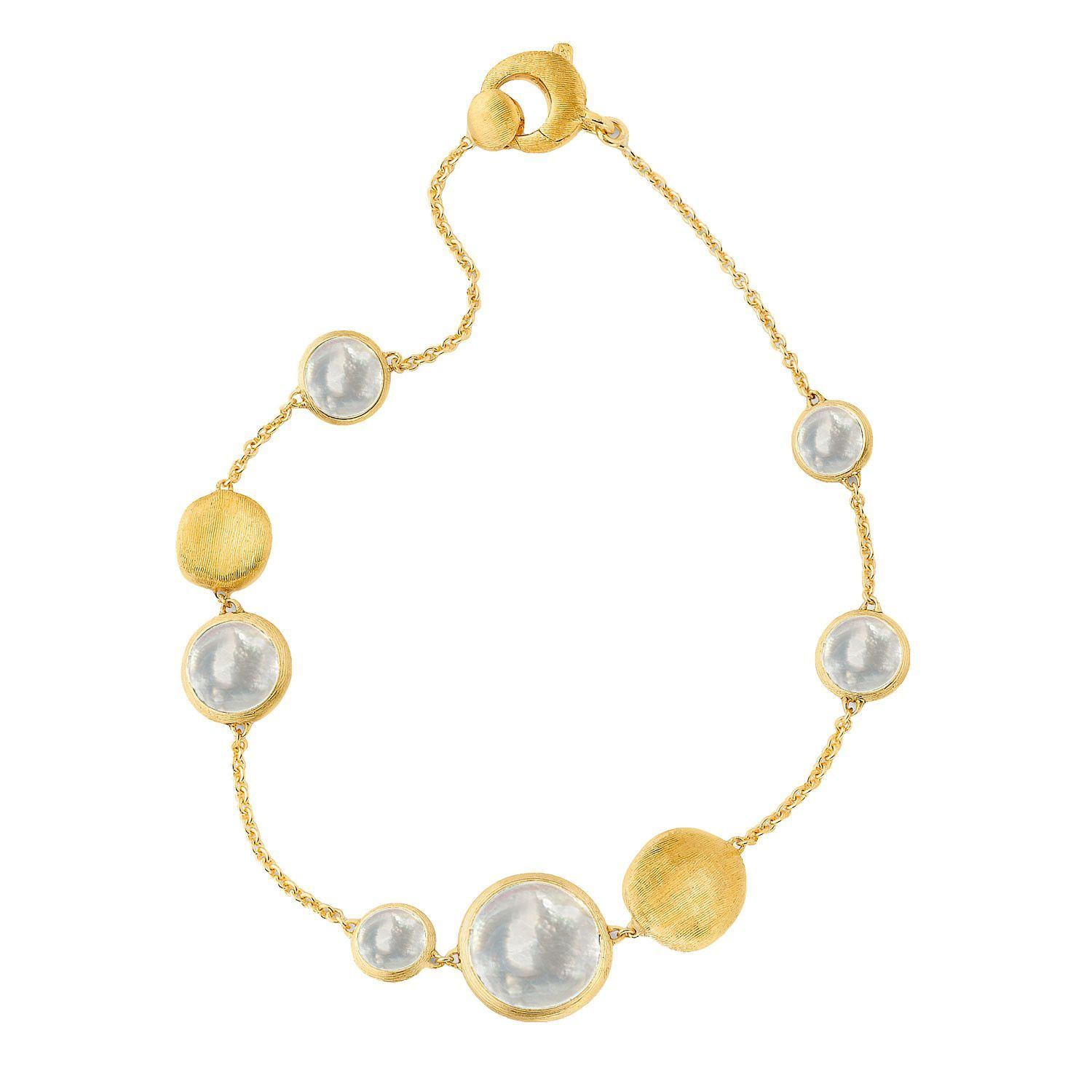 Jaipur Mixed Bead Gold & Mother of Pearl Bracelet