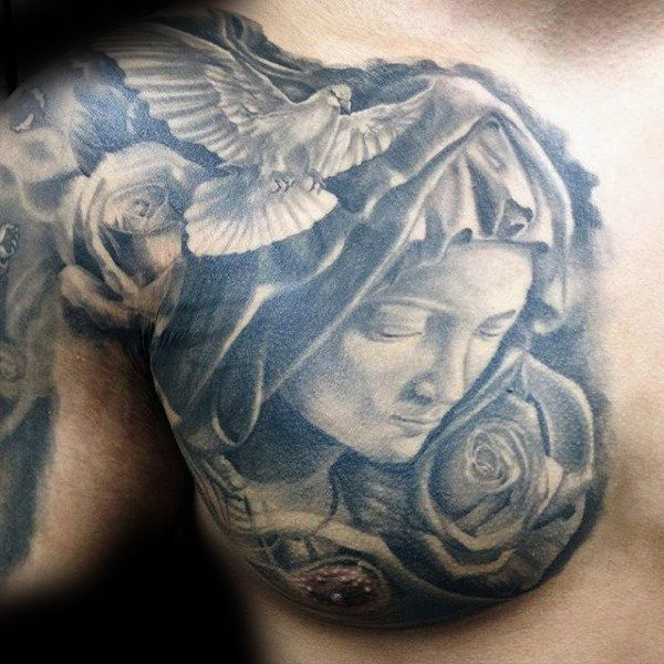 Top 101 Virgin Mary Tattoo Ideas 2020 Inspiration Guide In 2020 Mary Tattoo Tattoos For Guys Virgin Mary Tattoo