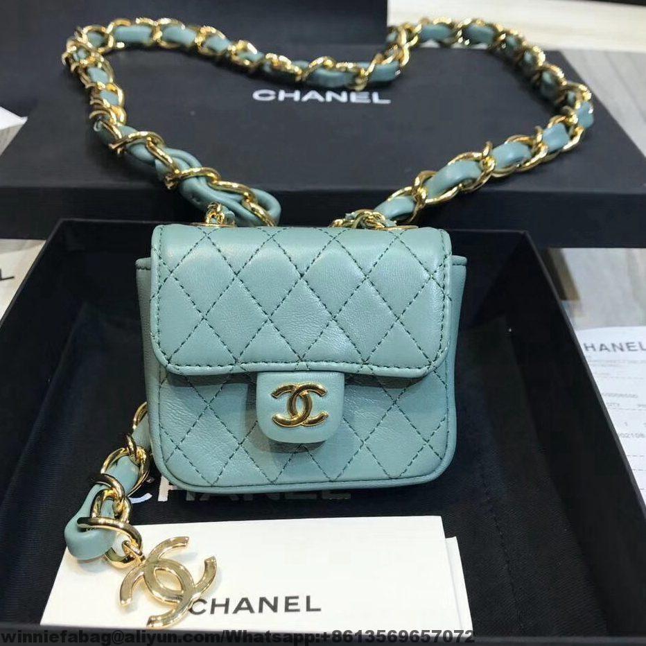 Chanel Quilting Lambskin Mini Waist Bag 2019 Chanelwaistbag