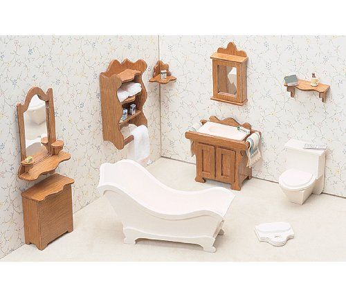 pingl par francine griffin sur mini doll house furnishings pinterest meuble bois barbie. Black Bedroom Furniture Sets. Home Design Ideas