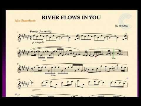 River Flows In You Yiruma Alto Saxophone Sheet Music Chords