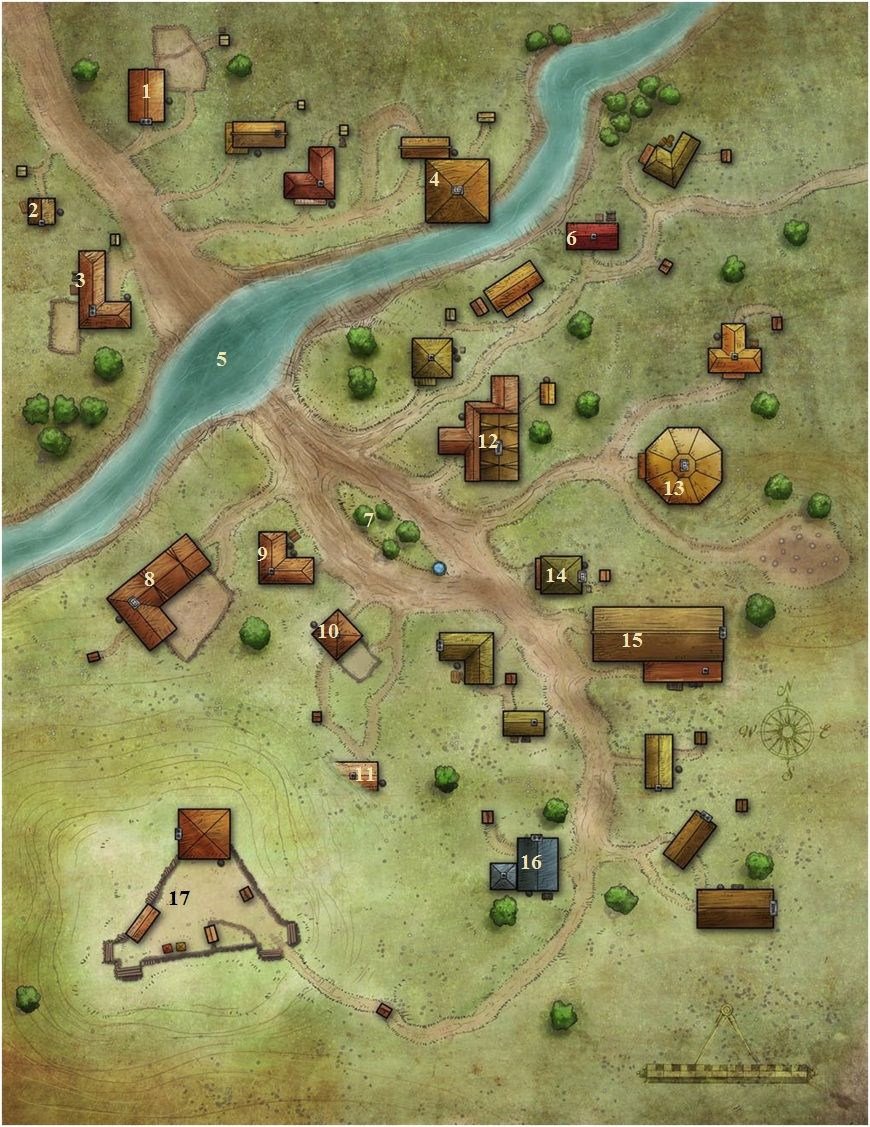 Fantasy City Map, Village Map