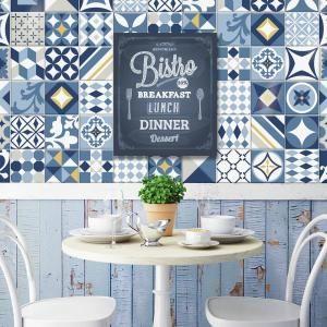 Decorative Backsplash Tile Extraordinary Vintage Azur 9 Inw X 9 Inh Multi Peel And Stick Decorative Design Ideas