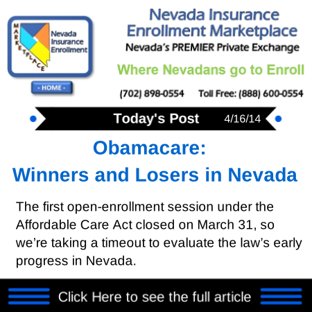 Obamacare Winners and Losers in Nevada Health insurance