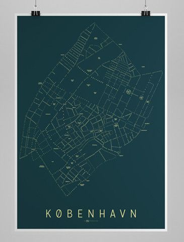Indre Kobenhavn Kort Nat Kort Plakater Og Aarhus