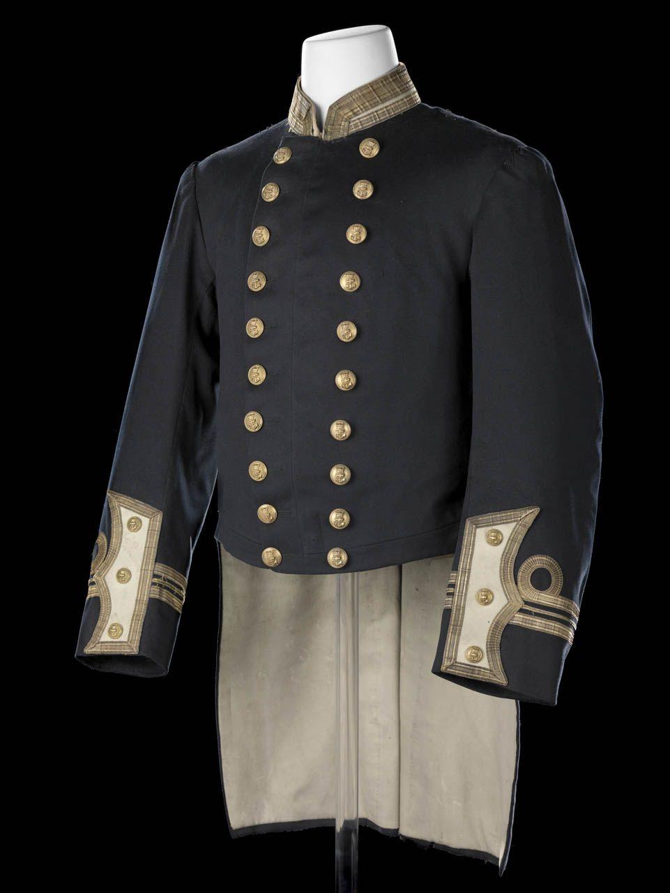 Royal Naval uniform 1877-91.