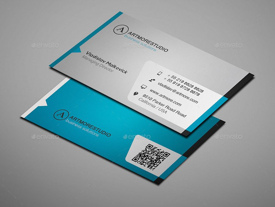 Clean Simple Business Card Design Graphic Design Business Card