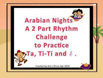 Challenge Your Students To Practise Crotchets Quarter Notes Paired Quavers Eighth And The Crotchet Rest In This Arabian