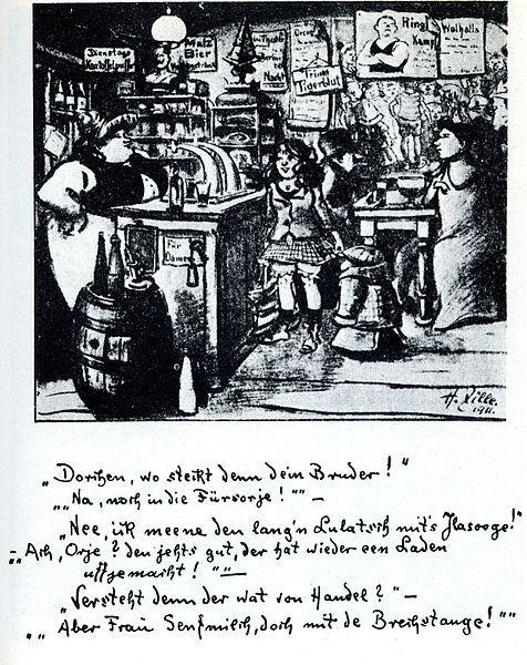 Heinrich Zille Handel m Brechstange (1911)