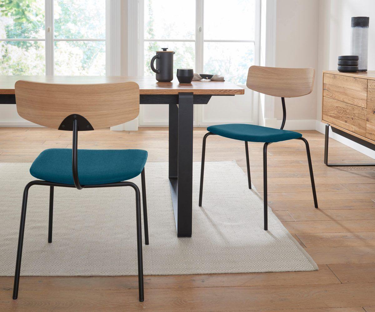 ANDAS Stühle mit Leder oder Stoffbezug grün, »Factory« Jetzt ...