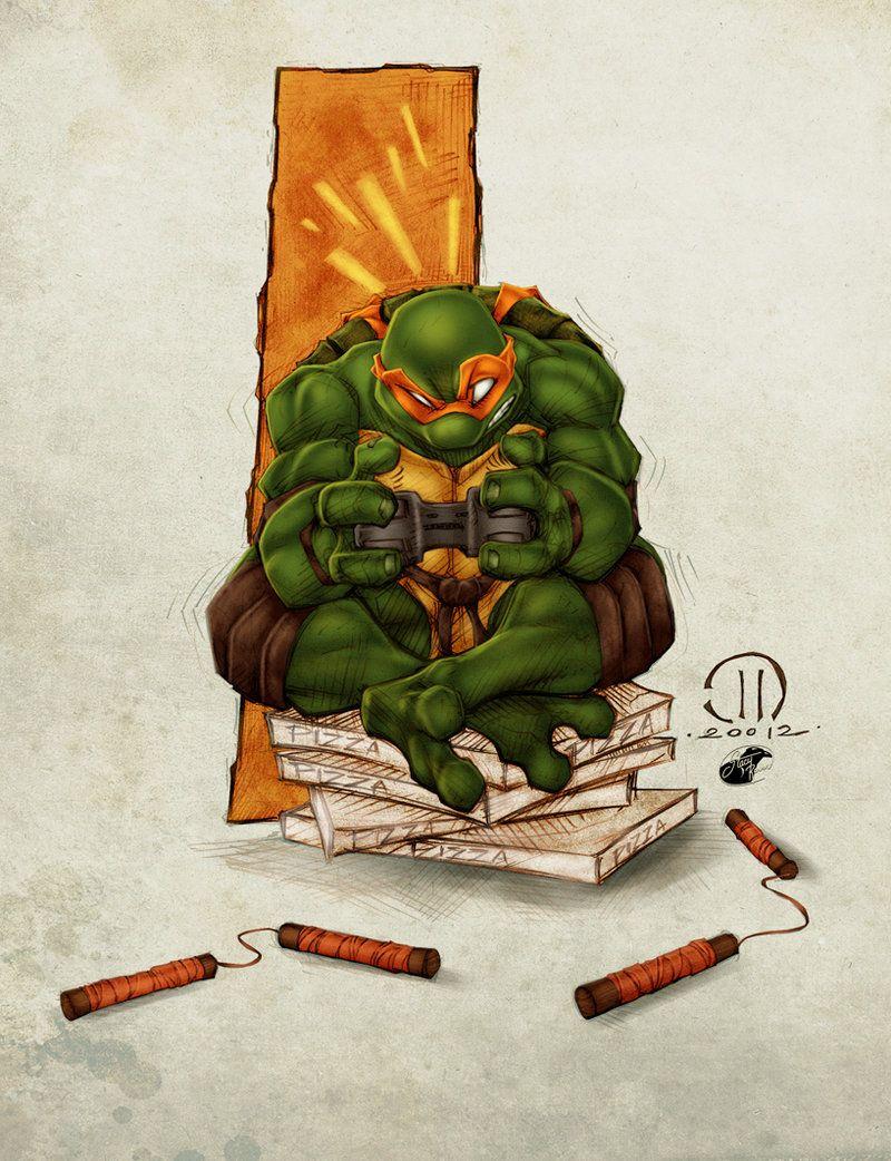 Mikey, Teenage Mutant Ninja Turtles artwork by Joey