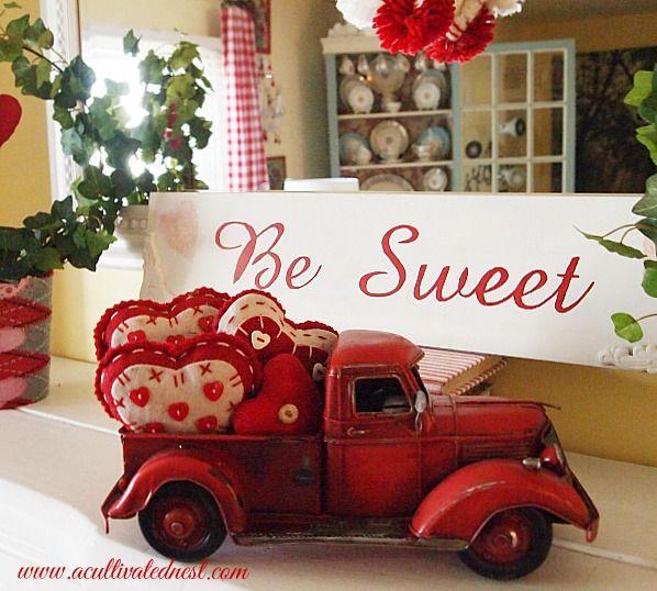 My Cheap & Cheery Valentine's Day Mantel