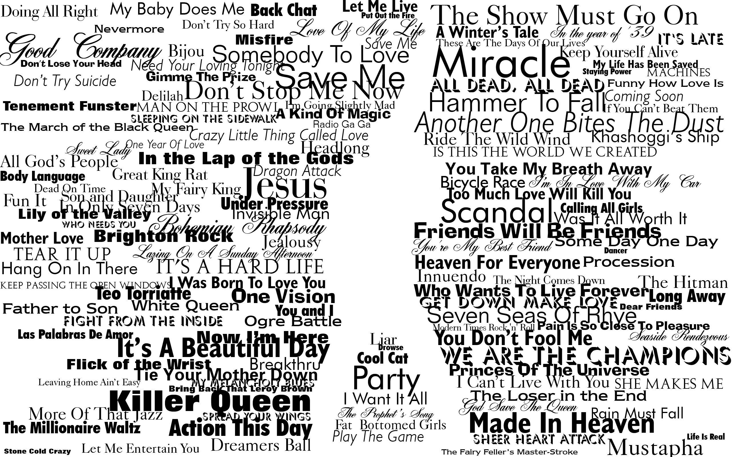 Download Hd Wallpapers Of 128780 Typography Freddie Mercury Queen Silhouette Free Download High Quality Freddie Mercury Quotes Queen Lyrics Freddie Mercury