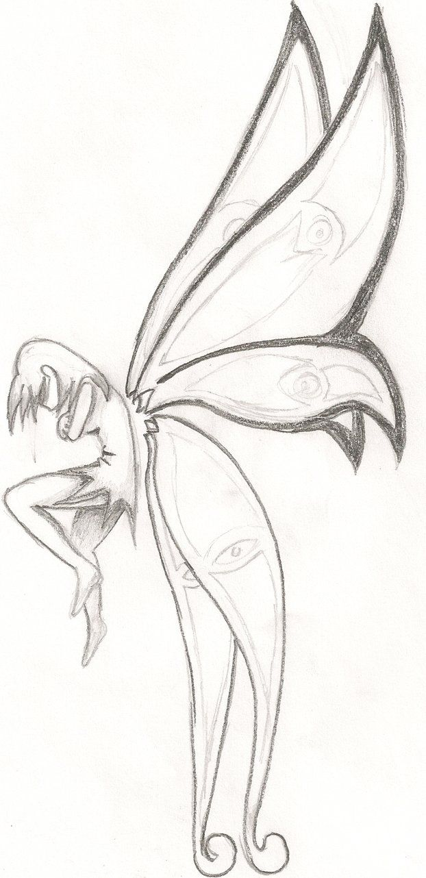 It's just a photo of Clean Easy Fairy Drawing