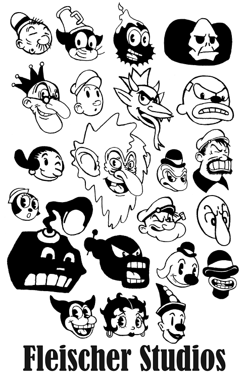 Black And White Cartoon Retro