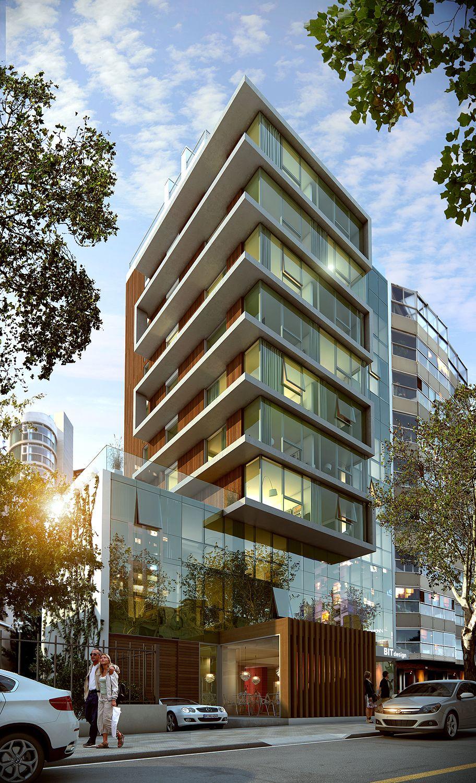 Bit design hotel render startup lo mejor fachadas for Fachadas de edificios modernos