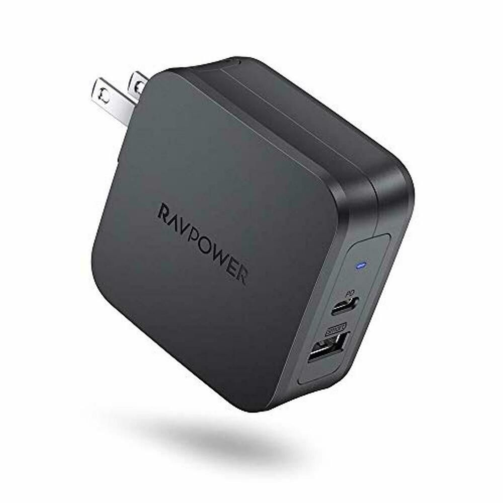 Usb C Power Delivery Charger Ravpower 61w Type C Pd 3 0 Power Adapter 2 Port U Ravpower Power Adapter Adapter Usb