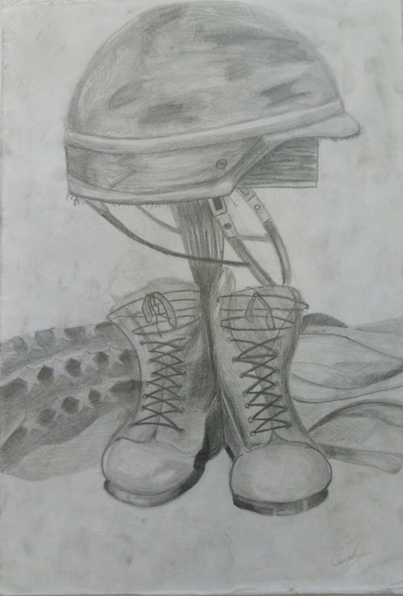 Pencil Sketch Soldier