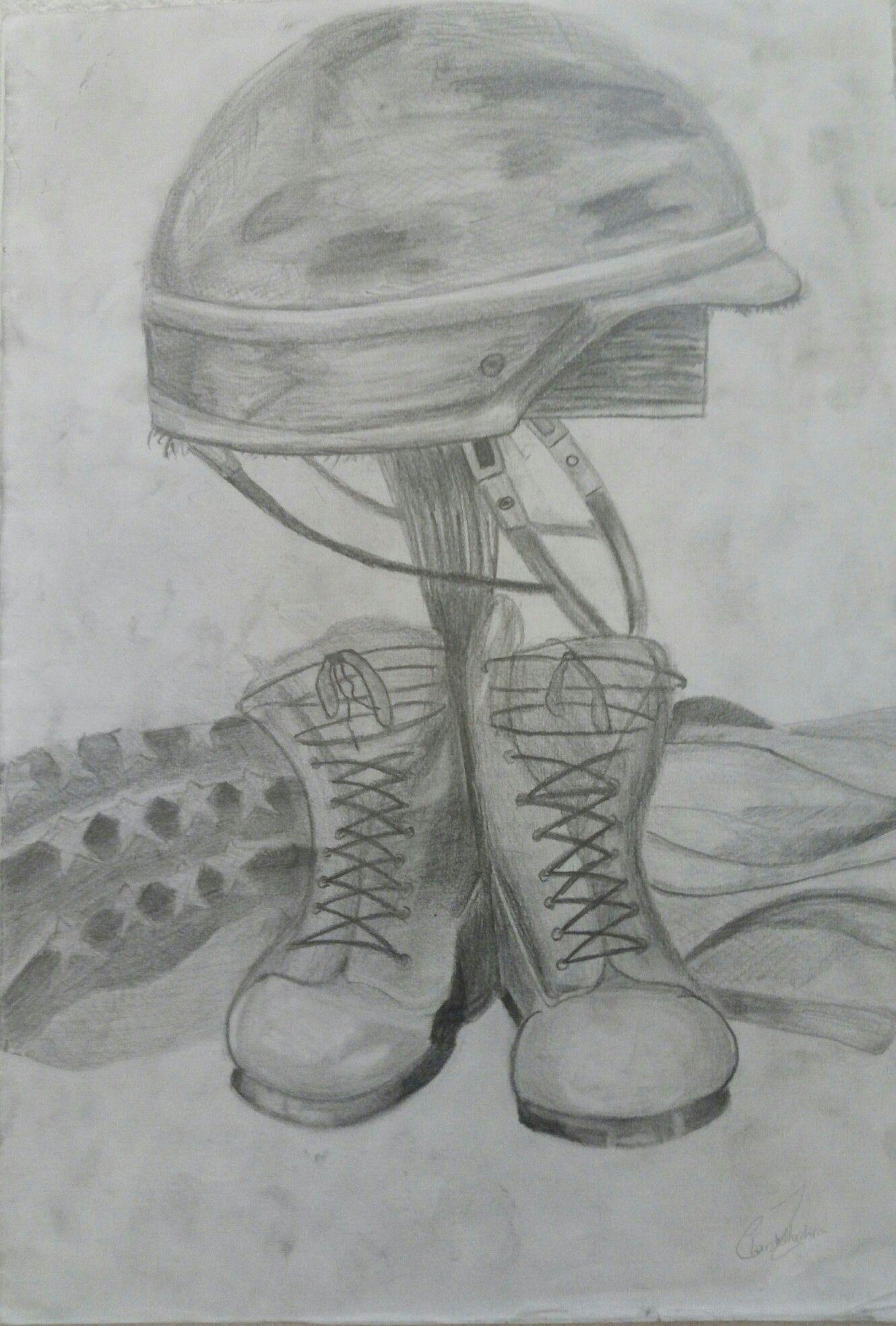 Pencil Sketch Soldier