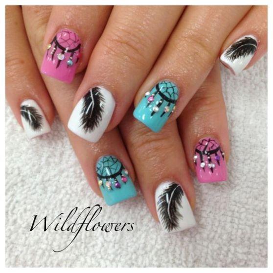50 diseños de uñas atrapasueños increibles que Debes TENER YA - mesas de diseo