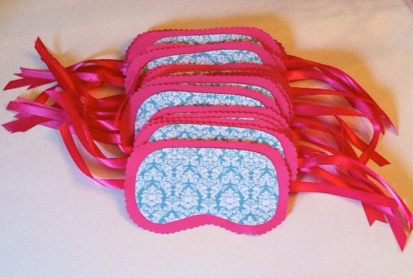 Eye Mask Invites Slumber Party Ideas Sleepover Party Spa Party