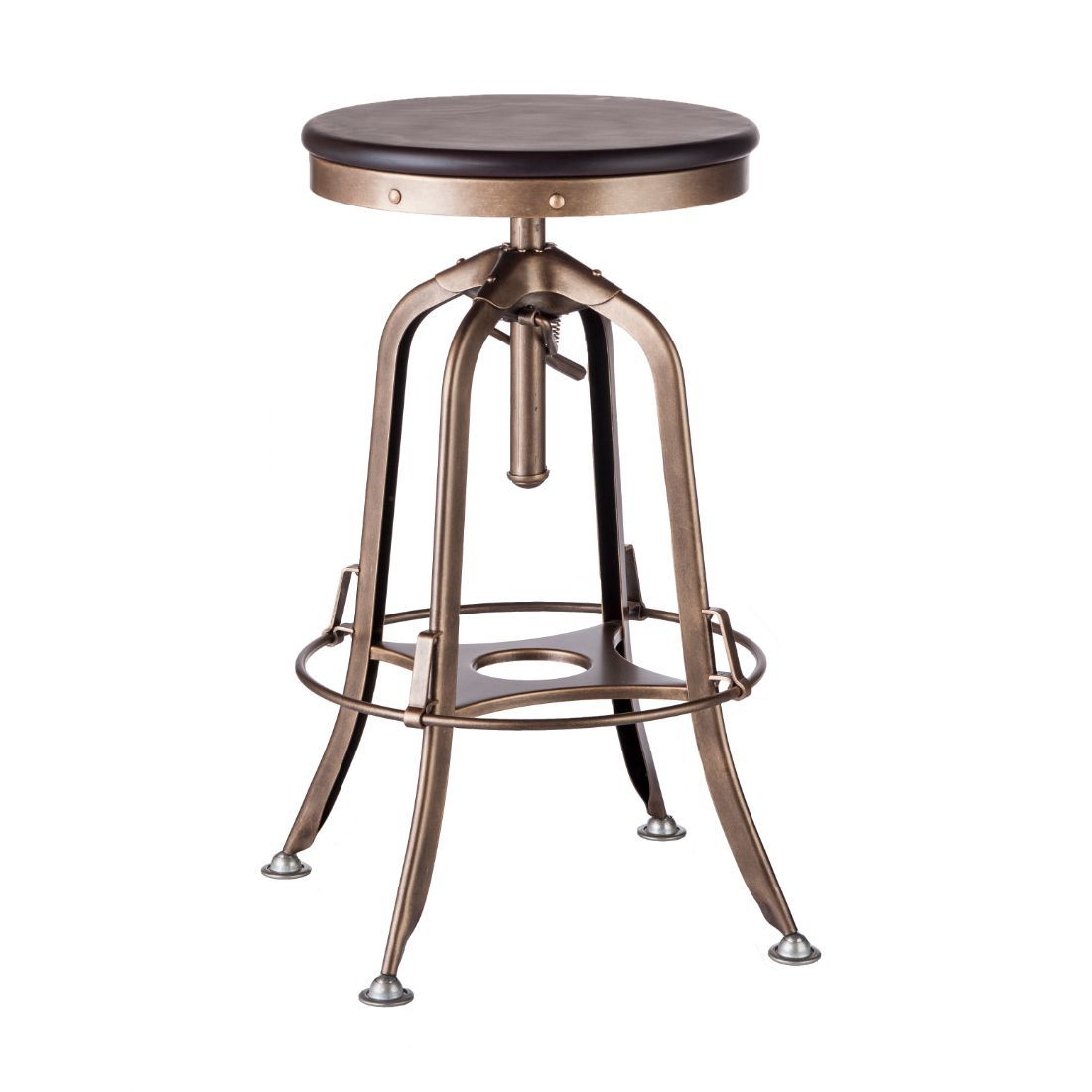 Industrial Iron Bar Stool With Wood Top French Brass Iron Bar Stools Bar Stools Vintage Bar Stools