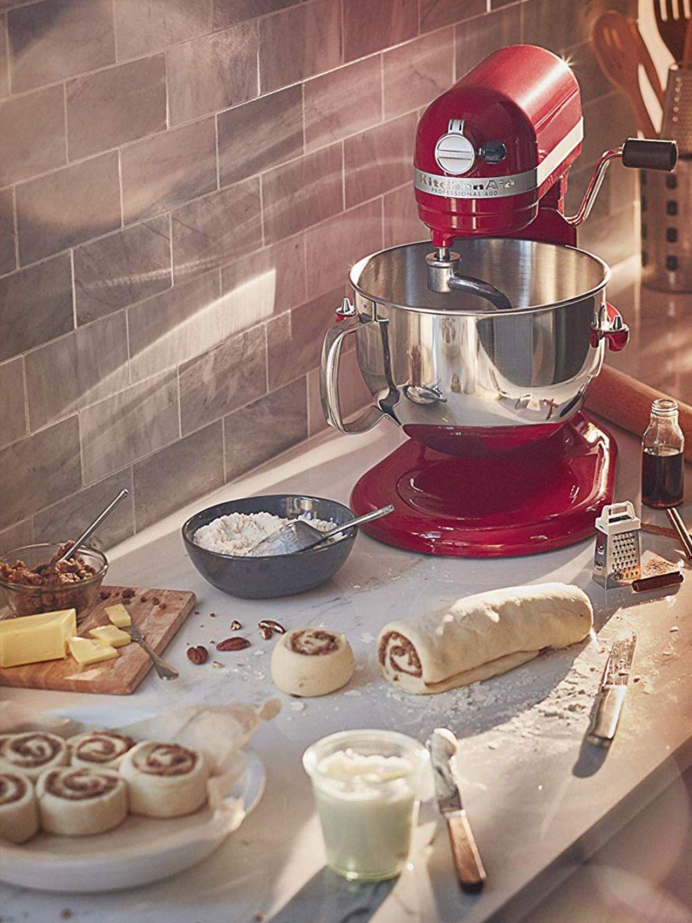 kitchenaid professional 600 stand mixer 6 quart empire red