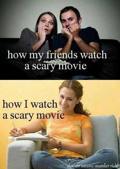 Very true! I love my horror movies!!