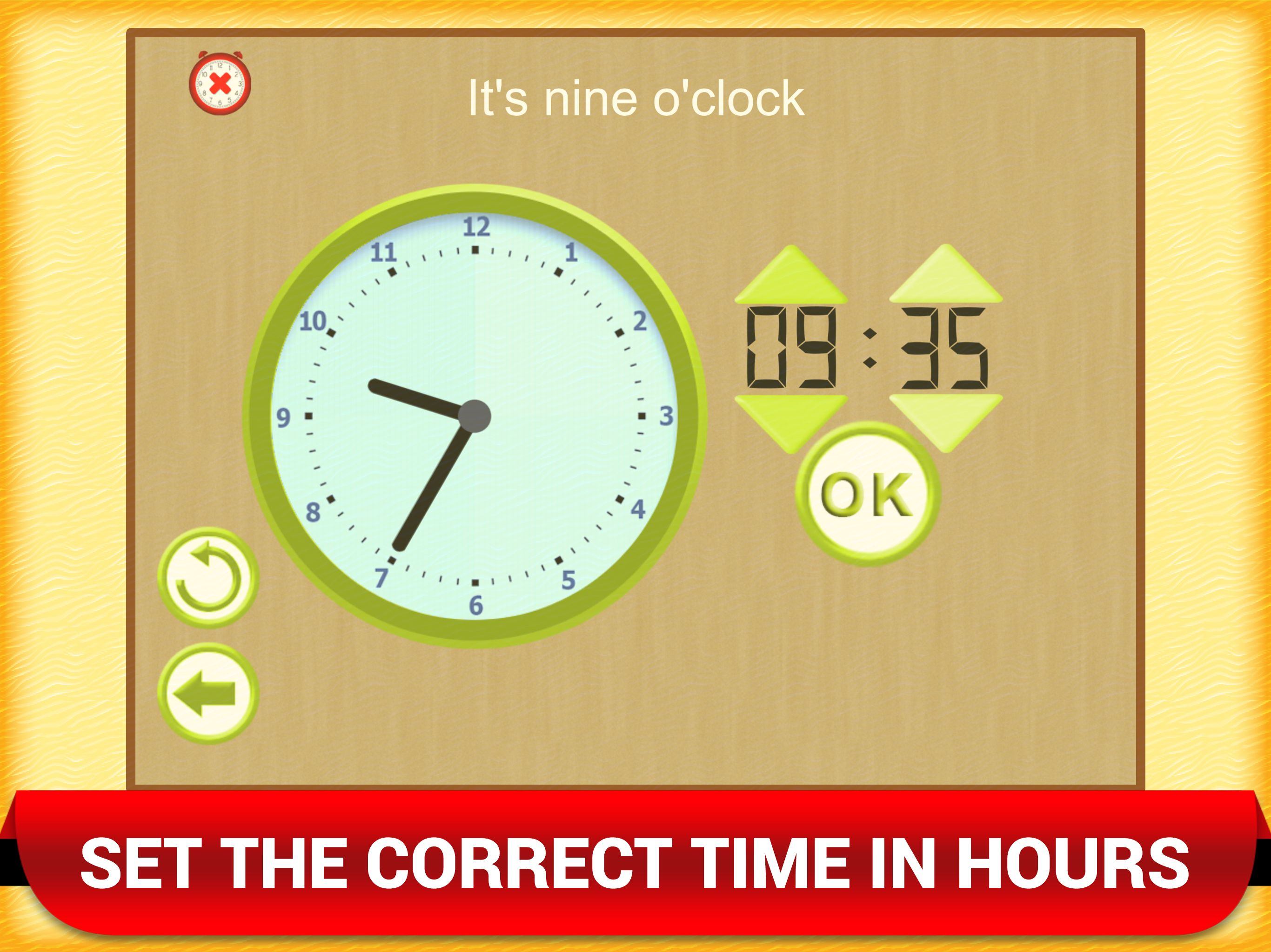 Time Games For Kids Clock Learning App For Toddlers Time Games
