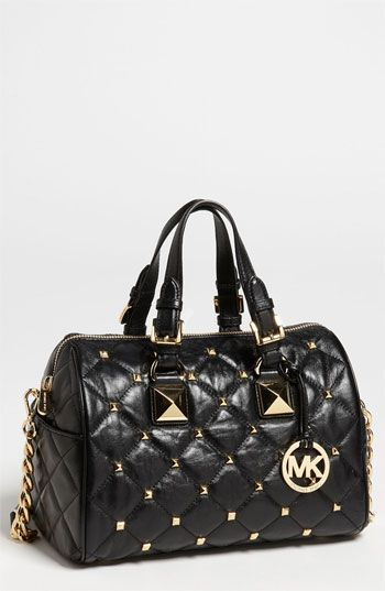 91db934f667f MICHAEL Michael Kors  Grayson Quilted Stud - Medium  Satchel available at   Nordstrom