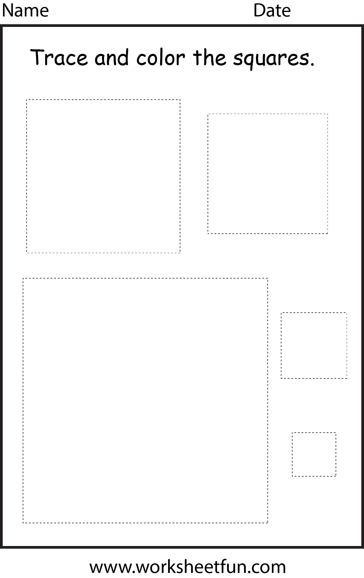 5 Shape Worksheets For Preschool Free In