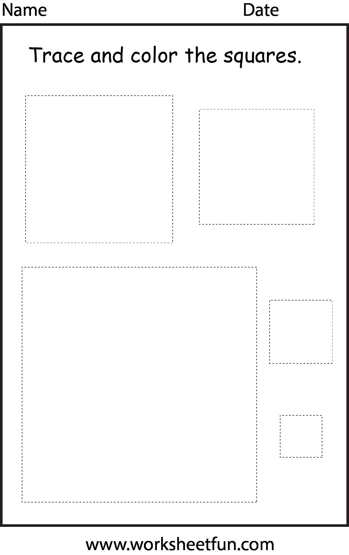 5 Shape Worksheets For Preschool Free In