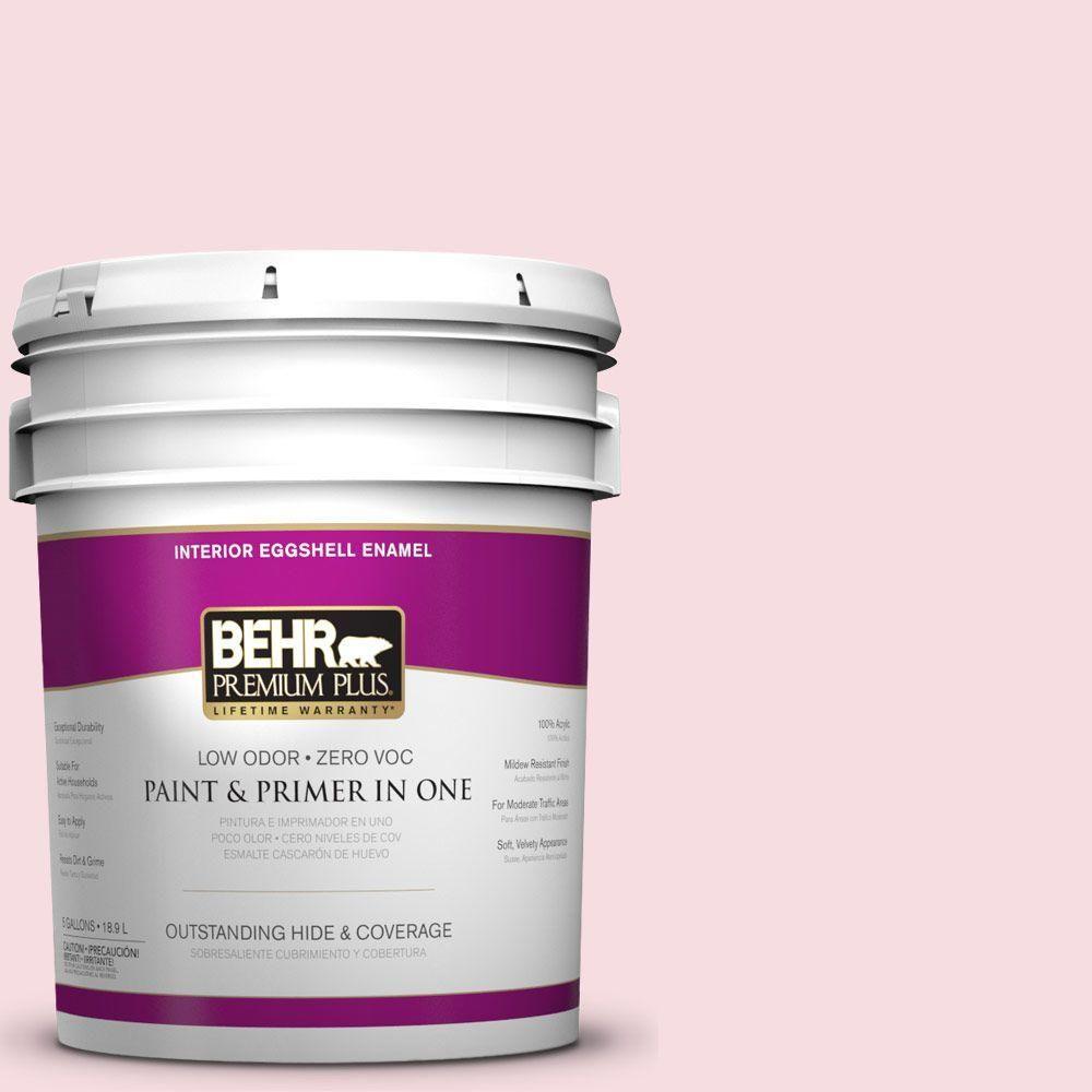 BEHR Premium Plus 5-gal. #P150-1 Blowing Kisses Eggshell Enamel Interior Paint