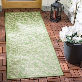 Safavieh Mayaguana Olive Green Natural Indoor Outdoor Runner 2 4 X 6 7 2 3 X 6 7 Runner 2 3 X 6 7 Ru Indoor Outdoor Rugs Outdoor Carpet Outdoor Rugs