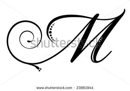 Letter M Script Calligraphie Caligrafia Letras Et Alfabeto