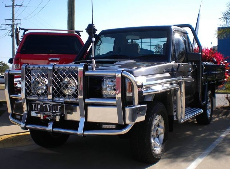 79 V8 Ute With A Polished Tuff Bull Bar Steps And Rails Fyrlyt Nemesis Brc Diff Breathers And A Uhf And Premier Winch Tjmproducts Bull Bar Winch Ute