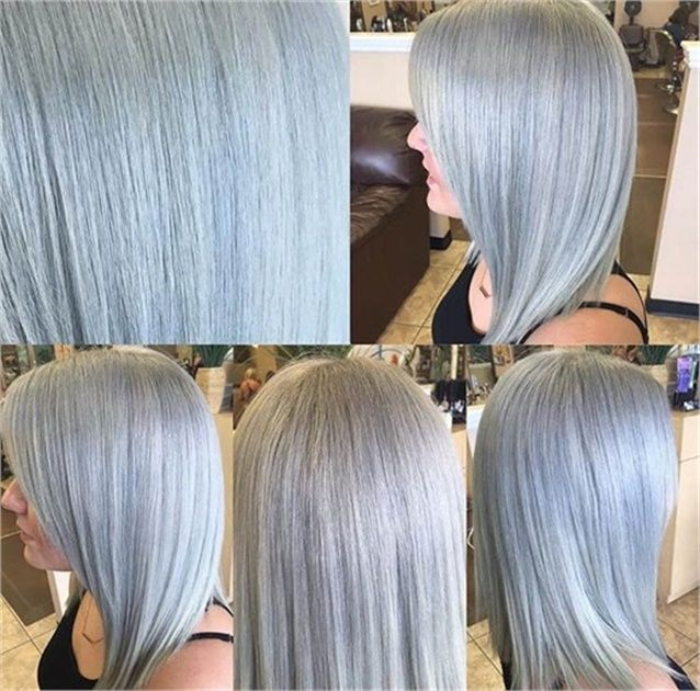 Color Correction Spotty Blonde To Lovely Violet Ash Silver