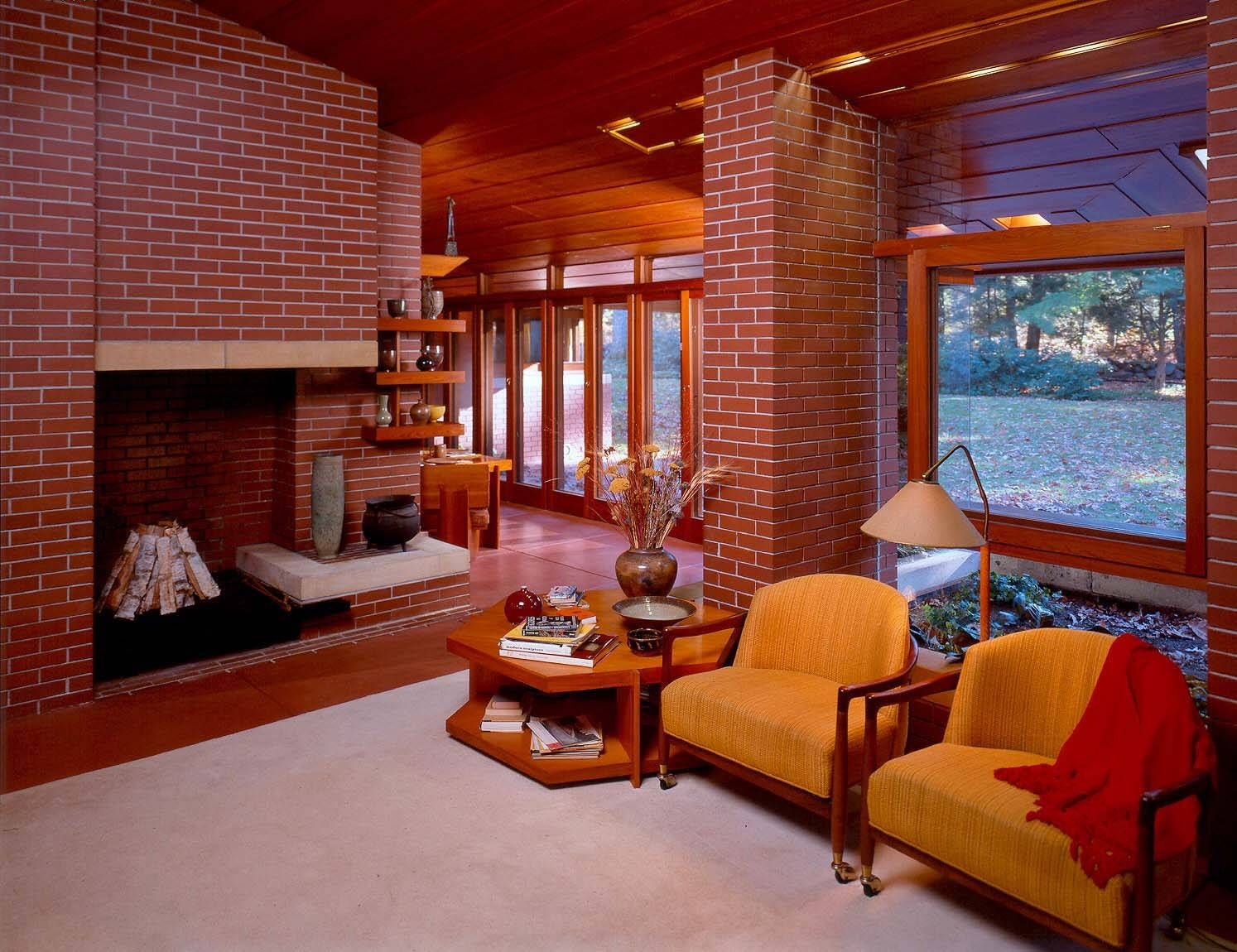 House Paint Color Guide Frank Lloyd Wright Homes Frank Lloyd Wright Interior Home