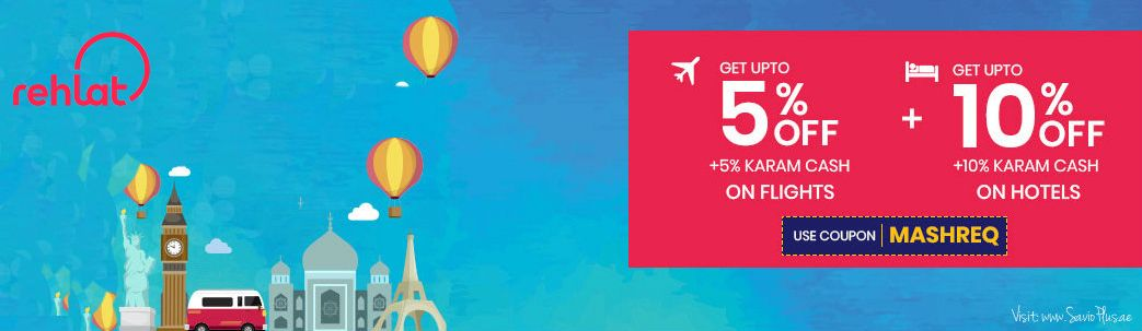 Flat 10 Off On Flights 20 Off On Hotels With Rehlat Promo Codes Coupons Cashback Coupon