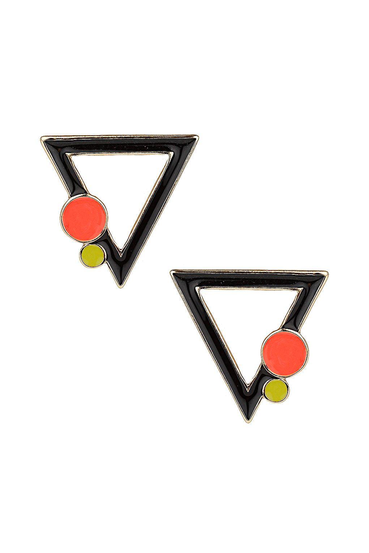 Bauhaus Triangle Stud Earrings Jewelry Accessories