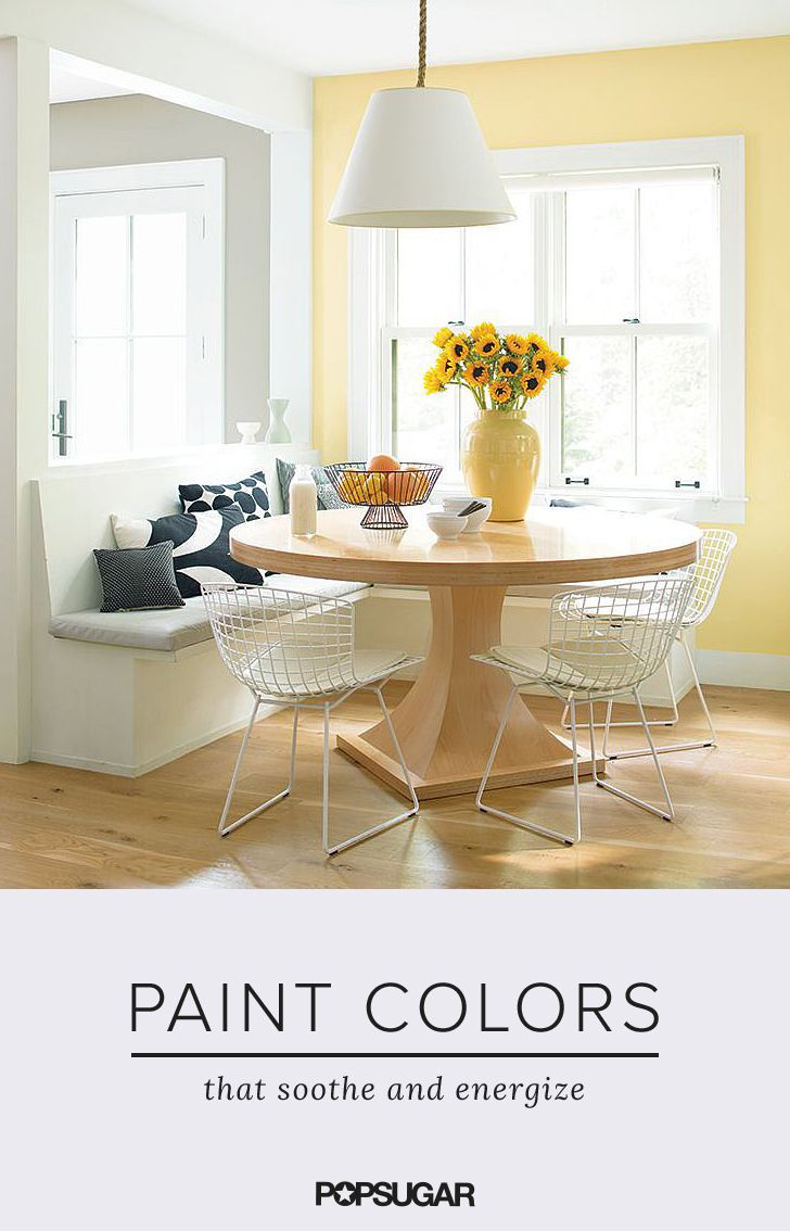 5 Paint Colors That Soothe And Energize Yellow Living Room Yellow Accent Walls Room Paint Colors #soothing #living #room #colors