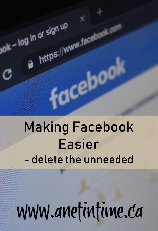 Making facebook easier a net in time in 2020 make