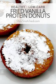 These healthy low-carb fried vanilla protein donuts make the perfect breakfast or dessert. These donuts are low-carb dairy-free gluten-free and are fried in coconut oil. #donuts #lowcarbdonuts  These healthy low-carb fried vanilla protein donuts make the perfect breakfast or dessert. These donuts are low-carb dairy-free gluten-free and are fried in coconut oil. #donuts #lowcarbdonuts #proteindonuts These healthy low-carb fried vanilla protein donuts make the perfect breakfast or dessert. These d #proteindonuts