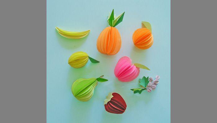 Как сделать овощи и фрукты из бумаги | Бумажные скульптуры ...