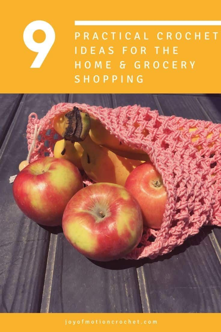 9 practical crochet ideas for the home & grocery shopping. Amazing green living crochet pattern ideas for the home. Market bag crochet pattern ideas for shopping or maybe use as beach bags? #crochetidea #crochet #crochetpattern