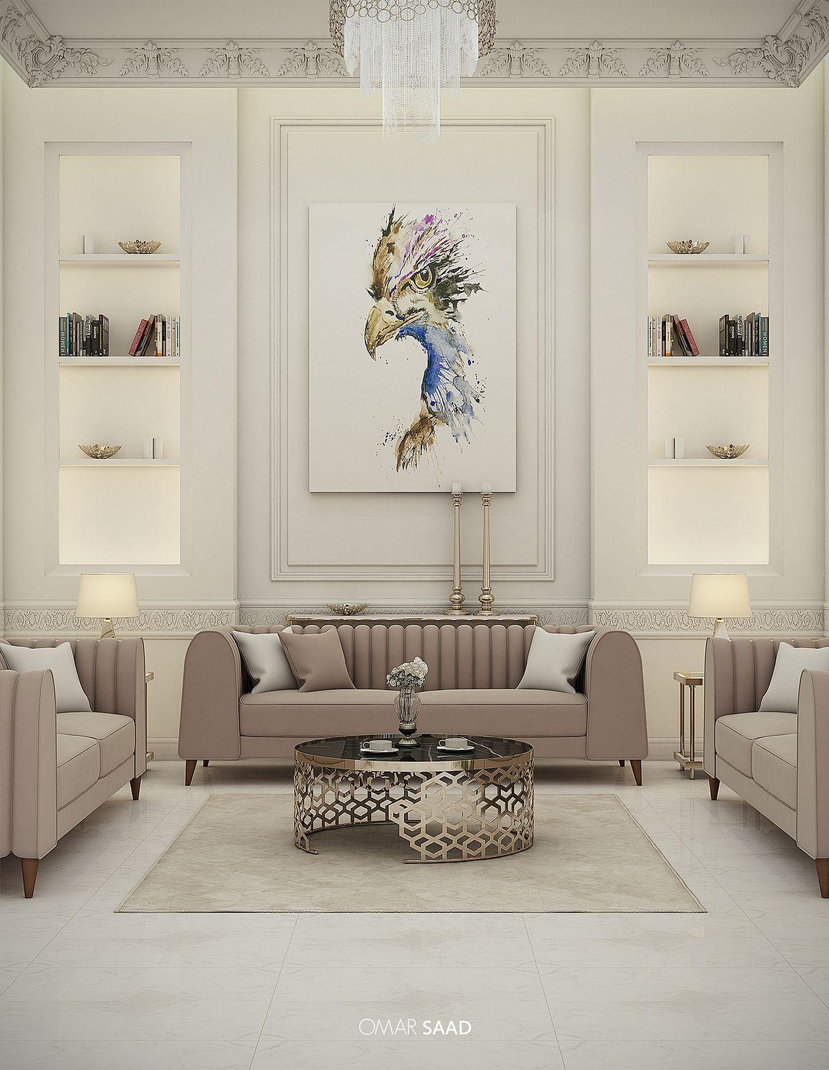 Bedroom Door Decorations Classical: LUXURY CLASSIC VILLA - INTERIOR DESIGN - On Behance