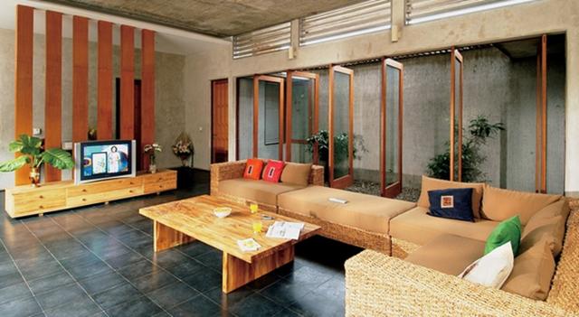 60 Model Ruang Tamu Terbuka Minimalis Modern Memiliki Sebuah Rumah Yang Luas Lengkap Dengan Halaman